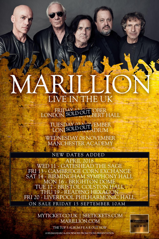 Marillion Tour Poster April18 copy
