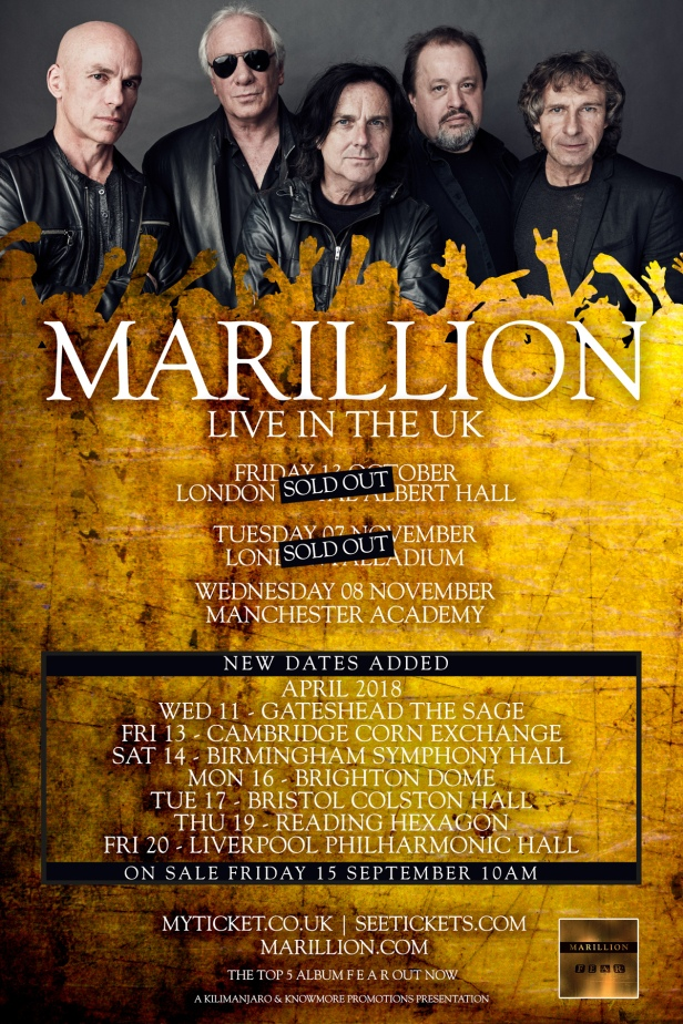 Marillion Tour Poster April18 copy